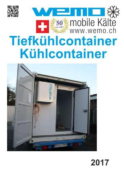 Tiefkühlcontainer und Kühlcontainer mieten