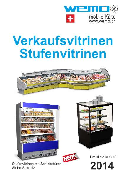 Verkaufsvitrinen und Stufenvitrinen