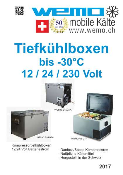 Kompressor-Tiefkühlboxen bis -30°C (12/24/230 Volt)